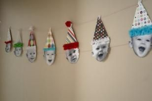 Adorable Ideas for Planning Your Baby's 1st Birthday Party What about doing this for an older person using pictures from through out their life???