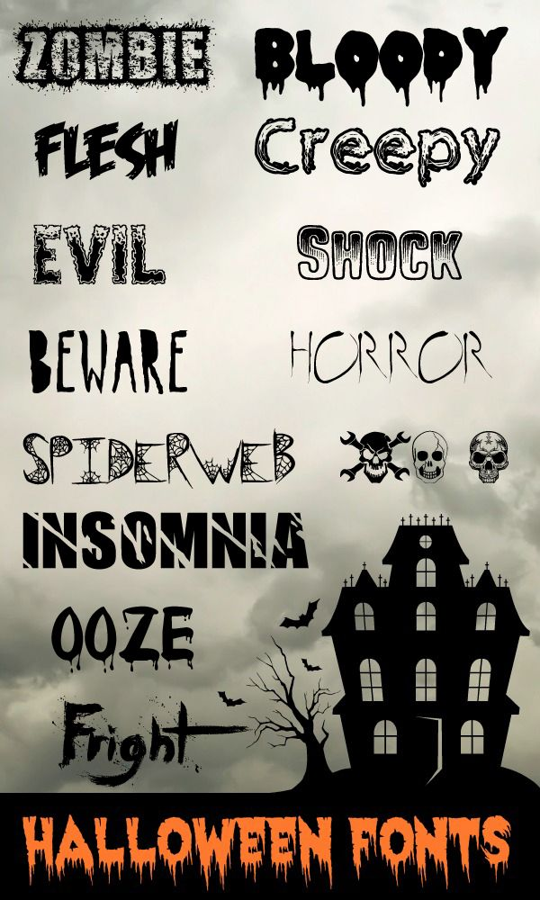 13 halloween fonts - Halloween Name Ideas