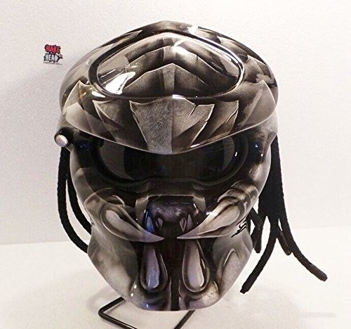 Color : Grey We use full helmet DOT as its base and Resin Catalis great Fiber for Predator parts. Helmet come with Red Tri-Lamp (LED) with on-off switch. Size : S - M - L - XL   »To the manufacturing process Predator Helmets, finished Two weekly from the time of booking. (This is the estimate / estimate, so it is possible the process could be faster or slower)  »If the product ordered is finished, the goods will be shipped as soon as possible according to the address buyer. »The goods wi...