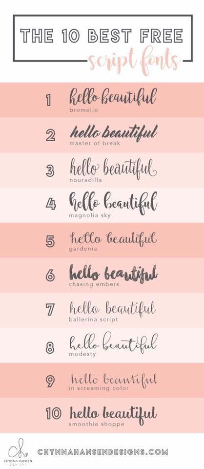 10 free script/sans serif font combinations for your blog/hire site!