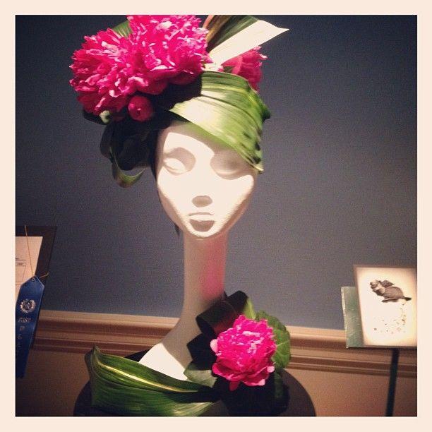Magnificent Mod Hattery at the Memphis Flower Show via FlowerMagazine