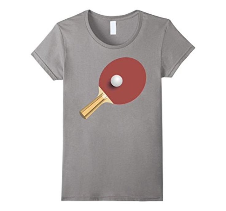 Women's Table tennis ping pong sport T shirt Tshirt tees Small Slate - Brought to you by Avarsha.com