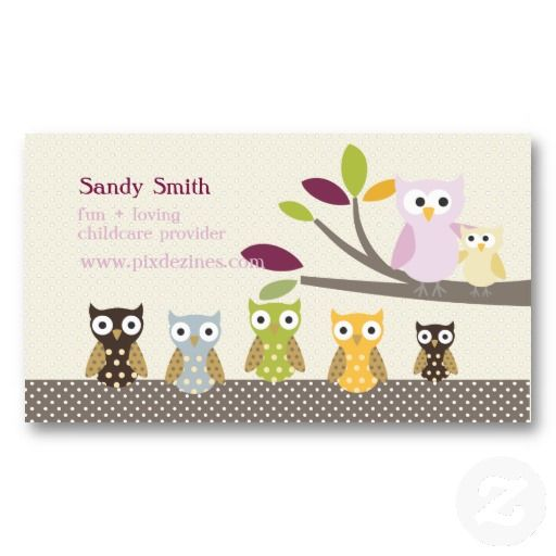 20 best child care business cards images on pinterest business pixdezines whoots daycare business cards colourmoves