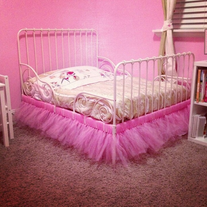 Tutu bed skirt: I made this for my daughters bed it cost me 10.00 $ and she loves it!