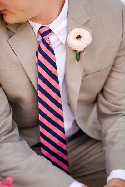 Groom & groomsmen. Love the color of suit & the flower