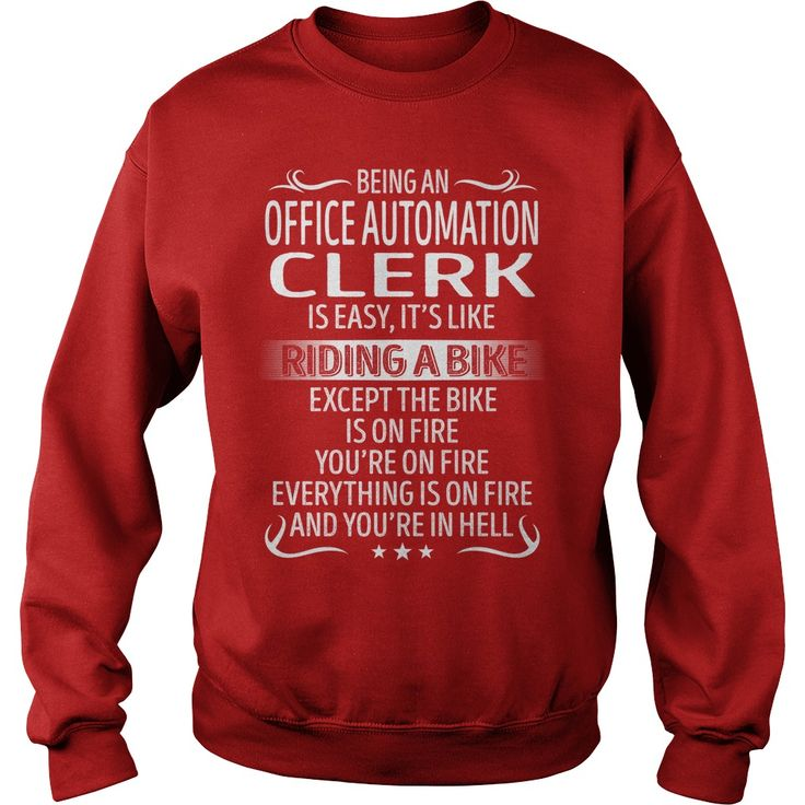 Being an Office Automation Clerk like Riding a Bike Job Title TShirt #gift #ideas #Popular #Everything #Videos #Shop #Animals #pets #Architecture #Art #Cars #motorcycles #Celebrities #DIY #crafts #Design #Education #Entertainment #Food #drink #Gardening #Geek #Hair #beauty #Health #fitness #History #Holidays #events #Home decor #Humor #Illustrations #posters #Kids #parenting #Men #Outdoors #Photography #Products #Quotes #Science #nature #Sports #Tattoos #Technology #Travel #Weddings #Women
