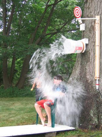 Dunk Bucket: 25 DIY Summer Activities For Kids | Felicity Huffman's What The Flicka? #crafts #ideas