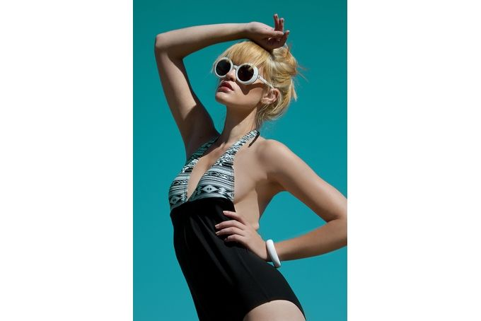 Aztec Halter Full Suit by Gabrielle Swimwear