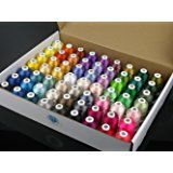 Simthread 63 Brother Colors Polyester 120d/2 40 Weight Embroidery Machine Thread for Brother Machine