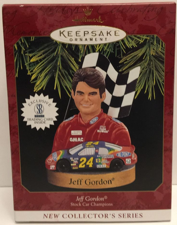 Hallmark Keepsake Christmas Ornament - Nascar Jeff Gordon #24 This item is NOT in Mint Condition and is in no way being described as Mint or even Near Mint. Our toys have not always lead the perfect l