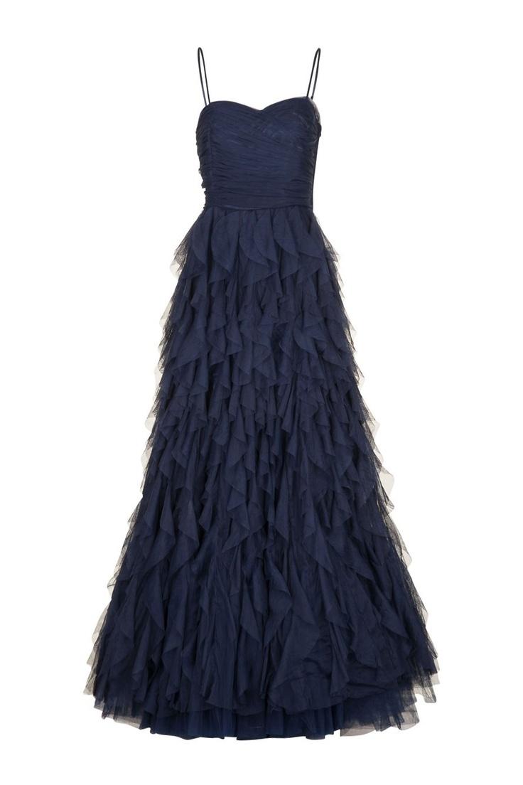 robe bustier enchanteresse en tulle bleu encre naf naf. Black Bedroom Furniture Sets. Home Design Ideas