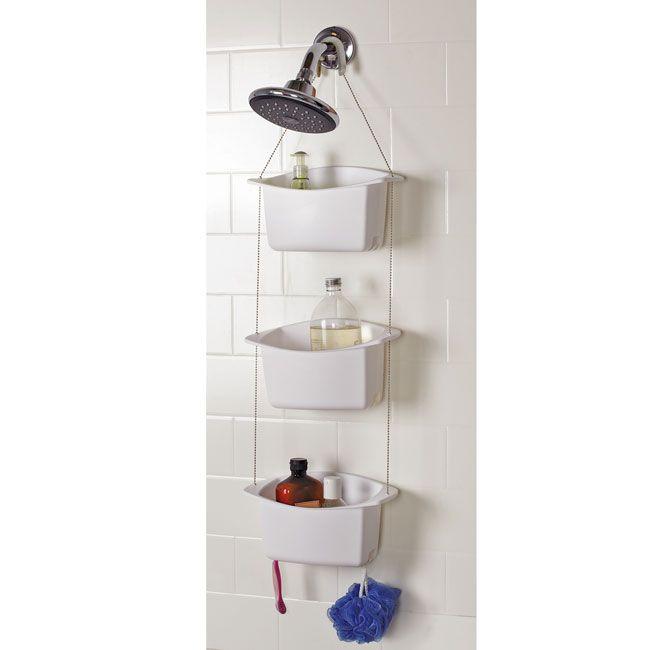 Designn Maniaa >> Organizador Banheiro Bask >> umbra; organizador de banheiro; porta shampoo; porta-shampoo