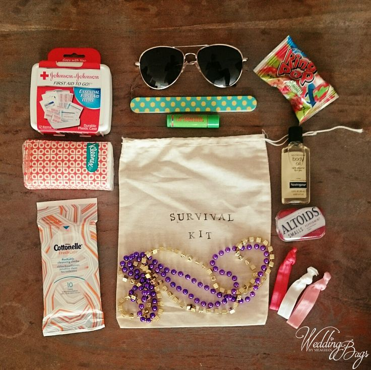 New Orleans Wedding Gift Bag Ideas : New Orleans Bachelorette Party Survival Kits from WeddingBags.com
