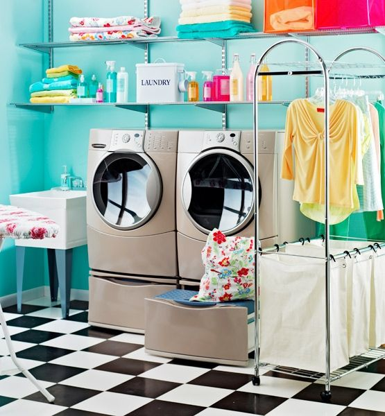 Now this is a laundry room that'll make me want to actually DO my laundry @Gloria Mladineo Contreras http://glo.msn.com/living/chic-laundry-rooms-8081.gallery