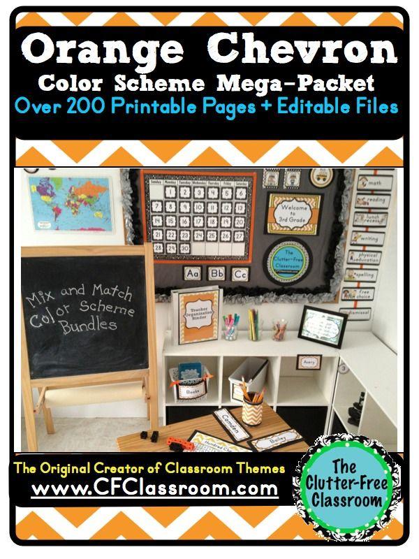 Orange Classroom Decor ~ Best images about classroom color schemes on pinterest