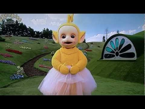 Teletubbies Laa Laa Dances In A Tutu And Throws Her Ball