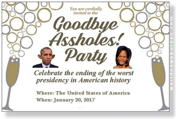 Goodbye Obama Party - World News Bureau http://www.worldnewsbureau.com/2016/12/goodbye-obama-party.html