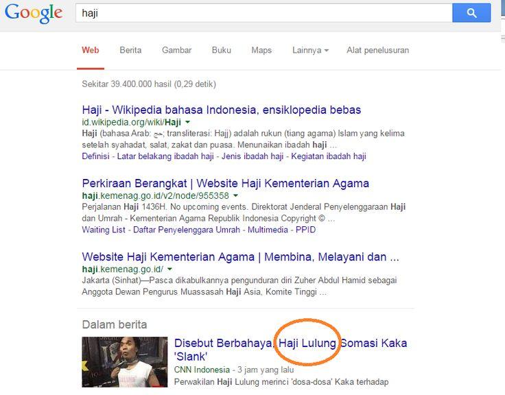 Membuang kata dalam pencarian Google