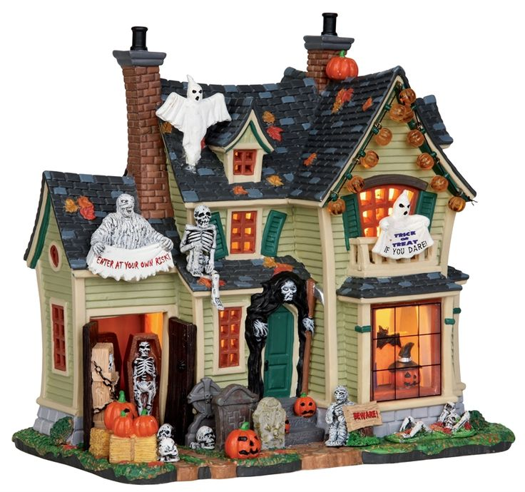 want lemax spooky town collection scariest halloween house decoration