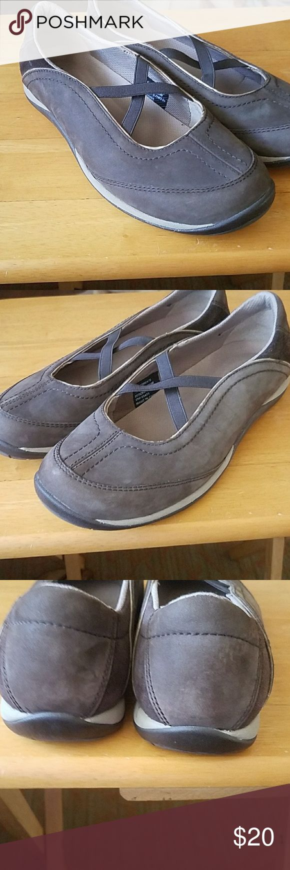 LL  Bean ladies slip on's size 7 Ladies LL Bean casual slip on's in size 7. These were only worn 1 time excellent condition. All leather and suede. Brown and tan in color. LL Bean  Shoes Flats & Loafers