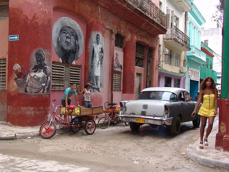 A street corner in Havana, Cuba. Picture: Art Lavelle of Bromsgrove, Worcestershire,