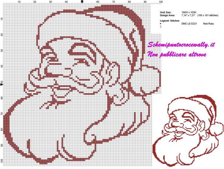 Très 27 best Natale punto croce schemi gratis images on Pinterest  KX99