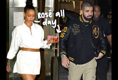 Rihanna & Drake Leave Intimate Date Together In NYC — & Yes, RiRi Took Her Drink To Go!