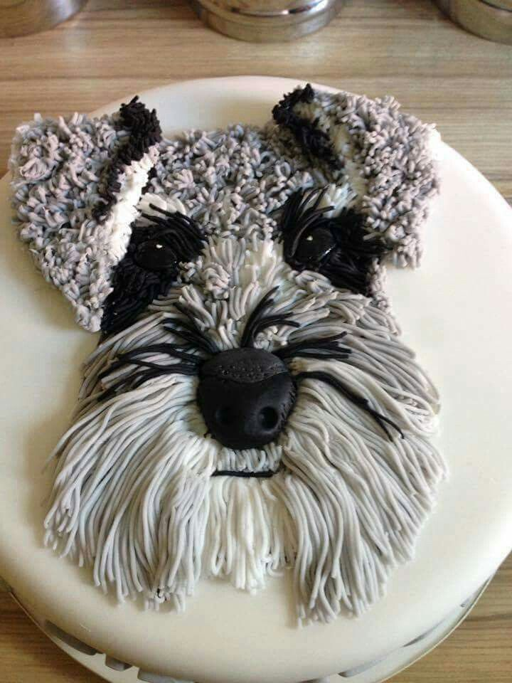 Oh my goodness....I am in love with this Cake! Yes...it's a CAKE!! We have a Schnauzer and this looks so real! What do you think? Featured on our BEST Cake Ideas! http://kitchenfunwithmy3sons.com/2016/04/awesome-cake-ideas.html/
