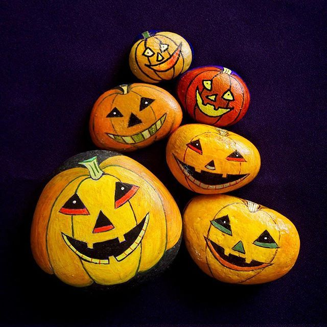 751 best images about halloween rock painting on pinterest