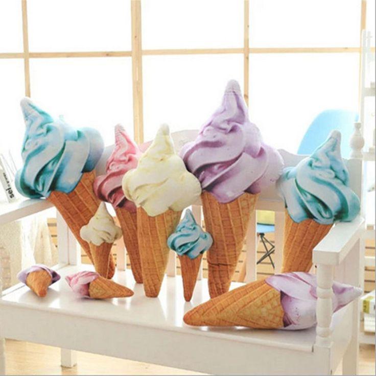 Ice Cream Shape Throw Pillows Kids Gift Decoration Sofa Home Office Car Cushion