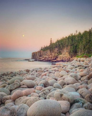 Moonrise, Acadia National Park - fine art Maine landscape photography print by Allison Trentelman #travel #maine #usa