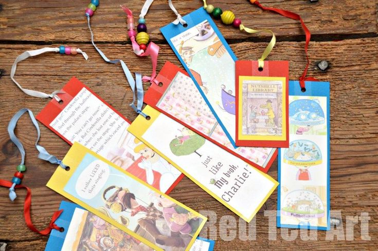 World Book Day - Book Bookmarks (without destroying your favourite books!) - Red Ted Art's Blog