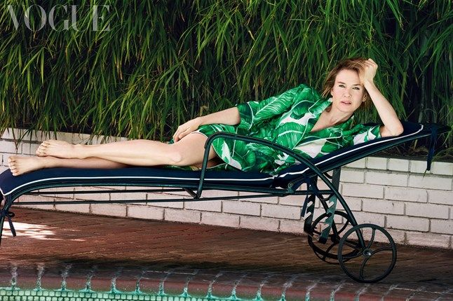 Renée Zellweger by Patrick Demarchelier for Vogue UK July 2016 - Dolce&Ganbana