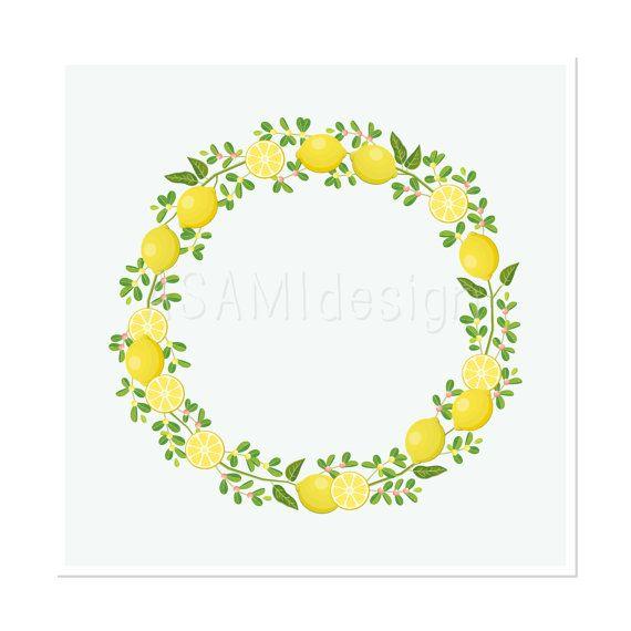 Lemon Wreath Clipart Lemon Clip Art Png Clip Art Lemon Wreath Colorful Backgrounds