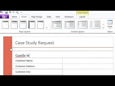 microsoft office infopath 2010 tutorial pdf