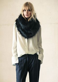 MANGO - Accessories - Faux fur and knit snood