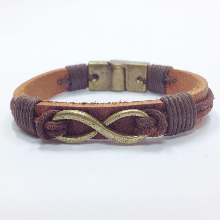Pulseiras masculinas mens bracelets leater