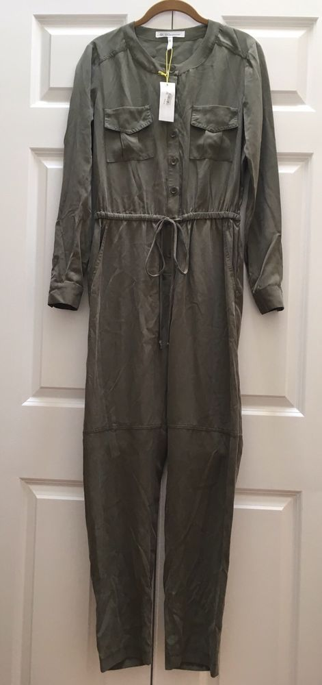 d1a899078d37 NWT BCBG BCBGeneration Utility Jumpsuit Olive Green Womens Romper - Size  Small S  fashion  clothing  shoes  accessories  womensclothing   jumpsuitsrompers ...