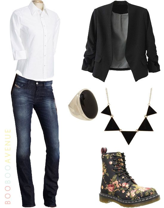 Cute back to school outfits google search for Matching denim shirt and jeans