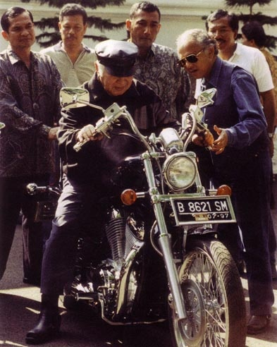his Harley