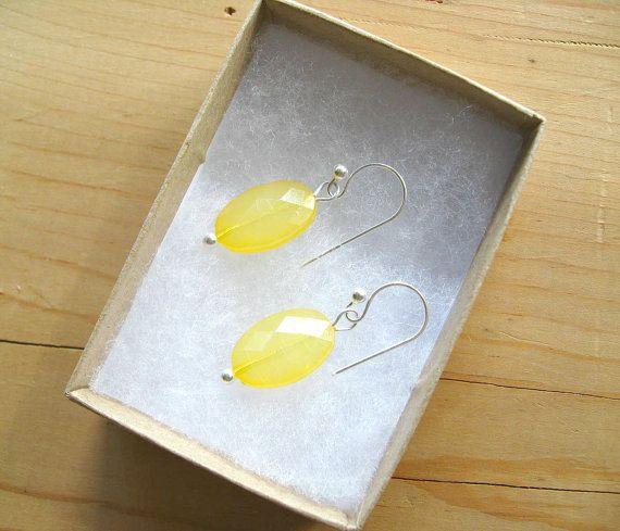 Yellow Drop earrings Lemon yellow drop by ThatsmineBoutique, $10.00