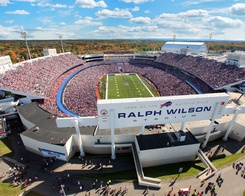 What a beautiful sight - Ralph Wilson Stadium on a sunny fall day. We're ready for the 2012 season! Follow the picture to the Bills Photo Store to check out more great photos.