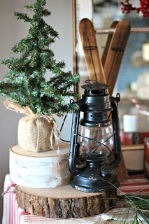 The Glam Farmhouse: Rustic Hot Chocolate Station Christmas Decor