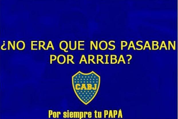Los afiches más divertidos de los hinchas de Boca, tras ganarle a River en Mendoza- canchallena.com