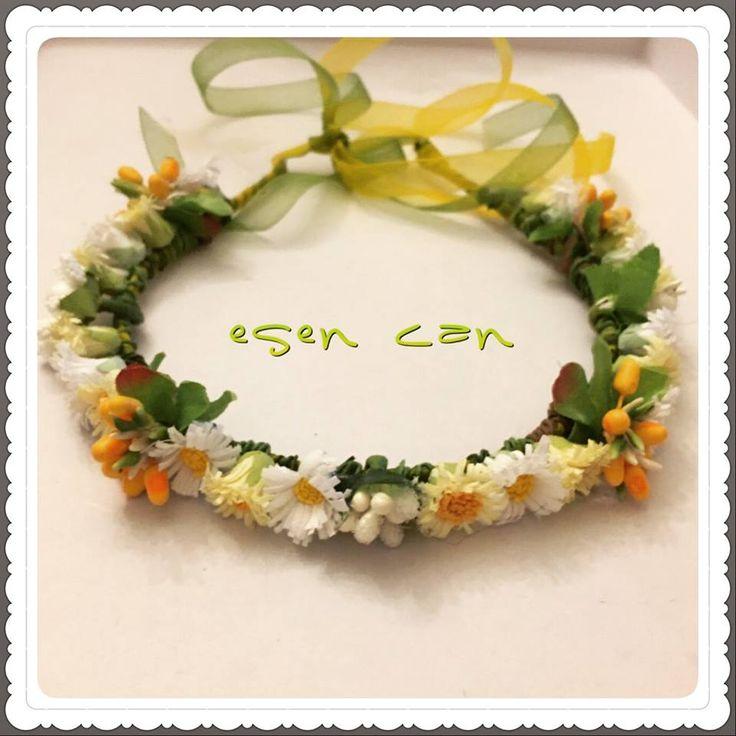 Gelin tacı, papatyalı taç, çiçekli taç, taç, papatya, daisy, bride crown