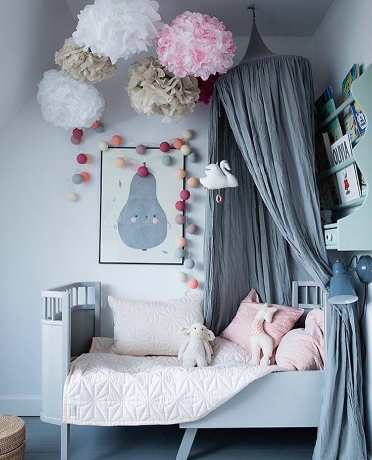 Beautiful grey girls kids room