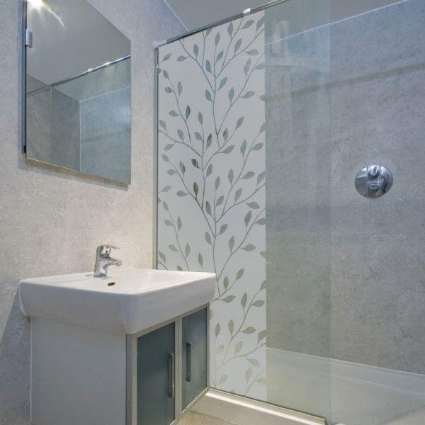 Sticker decoration paroi de douche branche design for Superior idees pour la maison 9 stickers pour vitres pour decorer et pour preserver votre