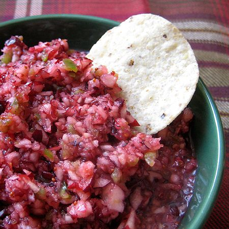 cranberry salsa | These Make Me Hungry | Pinterest