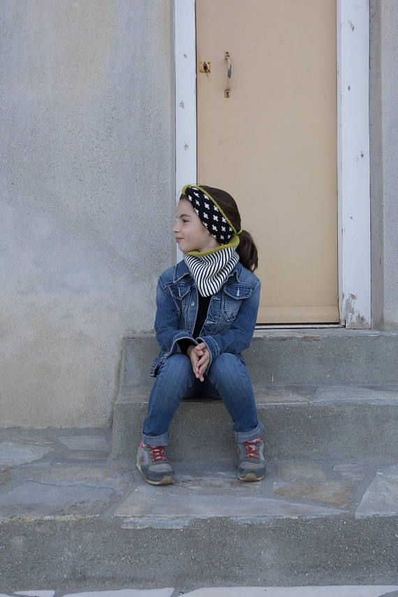 Kids wool Headband, knit turban Headband, merino wool knit Hairband.