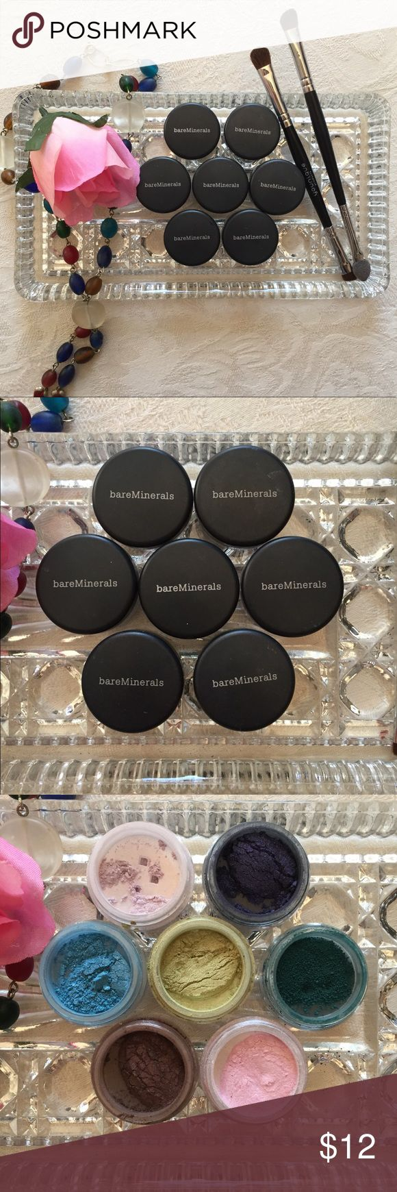 bareMinerals Glimmer Eyeshadow BUNDLE 🌈Creamy, Velvety Smooth, Blendable 🌈Vibrant Colors that Won't Smudge, Run or Change Color 🌈All Natural-Makes Them Easy to Apply and Blend 🌈Can Use for Eye Illuminating Accent 🌈100% Natural 🌈Preservative Free  🌈🌈COLOR LIST🌈🌈 🌈TOP from LEFT-(hugs) Shimmer📌FREE 🌈(Emotion) Shimmer  🌈MIDDLE from LEFT-(no eye-deer) Shimmer  🌈(nice pear) Shimmer 🌈(turquoise sea) Matte/Eyeliner  🌈BOTTOM from LEFT-(charleston) Shimmer 🌈(bikini) Shimmer  📌These…